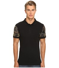 Versace Classic Polo With Print Detail Acacia Men's Clothing Yellow