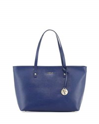 Furla Daisy Medium Leather Tote Bag Navy