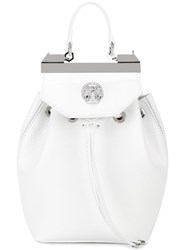 Philipp Plein 'Orchid' Backpack White