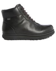 Camper Black Vivram Pelotas Protect Laced Boots With Side Zip And Gore Tex Sole