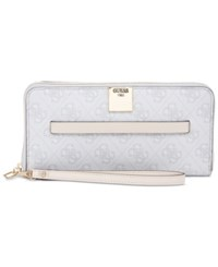 Guess Christy Large Zip Around Wallet Cement