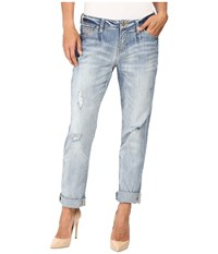 Jag Jeans Alex Boyfriend Platinum Denim In Cool Blue Cool Blue Destroy Women's