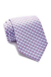 Tailorbyrd Fish Silk Tie Purple