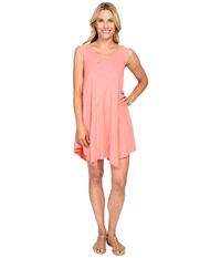 Mod O Doc Cotton Modal Spandex Asymmetrical Seam Dress Cali Coral Women's Dress Pink