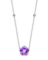 Grace Flower Amethyst And Diamond Pendant Necklace Kiki Mcdonough Purple
