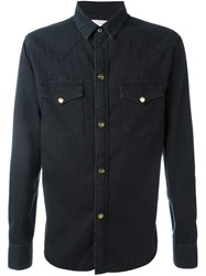 Palm Angels Denim Shirt Black