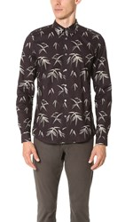 Paul Smith Tailored Fit Printed Shirt Black Brown