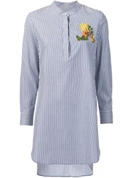 Adam By Adam Lippes Embroidered Tunic Blue