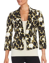 Nipon Boutique Dotted Blazer Citrine