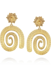 Sophia Kokosalaki Gold Plated Silver Spiral Earrings