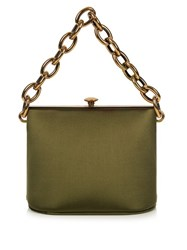 Marni Silk Satin Shoulder Bag Green