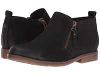 Hush Puppies Mazin Cayto Black Nubuck Women's Zip Boots