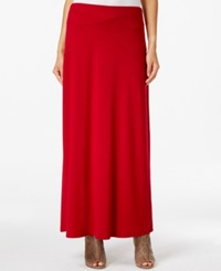 Eci Solid Maxi Skirt Scarlet Sage