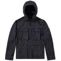 Stone Island Shadow Project Jacquard Viscosa Nylon Parka Blue