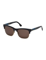 Diesel Mixed Media Square 54Mm Sunglasses Black