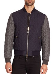 Burberry Brit Quilted Long Sleeve Jacket Navy
