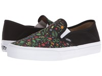 Vans Slip On Sf Flora Black Women's Skate Shoes Multi