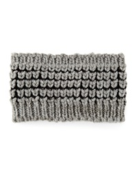 Hat Attack Textured Knit Headband Grey