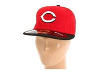 New Era Authentic Collection 59Fifty Cincinnati Reds Road Baseball Caps Gray