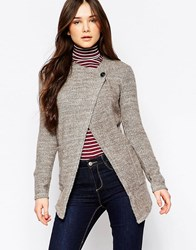 Wal G Cardigan With Button Detail Brown