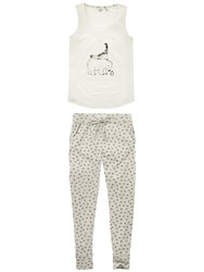 Fat Face Arctic Animals Pyjama Set Ivory