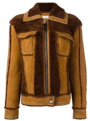 Coach Zipped Jacket Brown