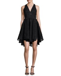 Milly Cynthia Sleeveless Organza Fit And Flare Mini Dress Black