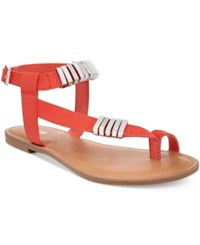 Bar Iii Verna Embelished Flat Sandals Only At Macy's Women's Shoes Coral
