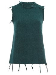 Maison Martin Margiela Raw Edge Knitted Tank Green