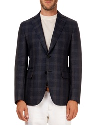 Berluti Plaid Soft Jacket Navy Gray