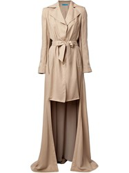 Jonathan Cohen Trench Coat With Tail Nude And Neutrals