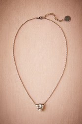 Anthropologie Tern Pendant Necklace Silver