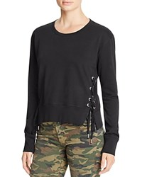 True Religion Lace Up Sweatshirt Black