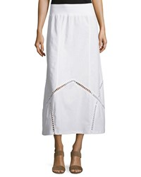 Xcvi Empress Linen Maxi Skirt White