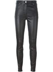 Givenchy Leather Skinny Trousers Black