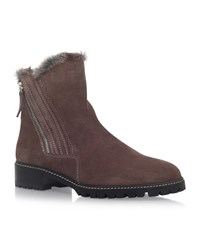Stuart Weitzman Stormy Suede Ankle Boots Female Taupe