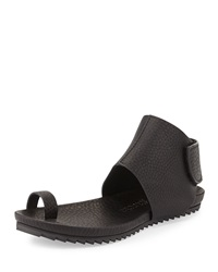 Vania Leather Toe Ring Sandal Black Pedro Garcia