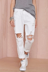 Res Denim Romeo Boyfriend Jean White