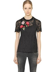 Blugirl Embroidered Cotton Lace Top