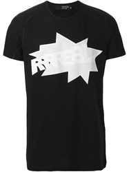 Tom Rebl Printed T Shirt Black