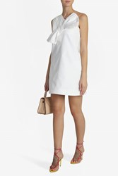 Victoria Beckham Women S Twist Bow Asymmetric Dress White