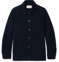 Oliver Spencer Portobello Slim Fit Wool Blend Jacket Navy