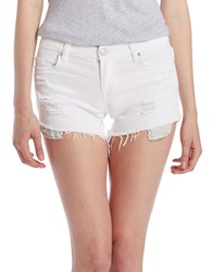 Sl8 Frayed Shorts White