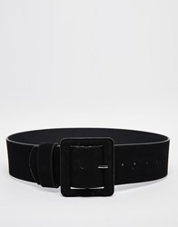 New Look Suedette Wide Buckle Belt Black