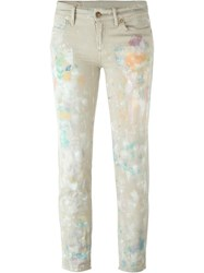 Polo Ralph Lauren Painted 'Astor' Jeans Nude And Neutrals