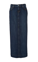 Baldwin Kendall Long Denim Skirt Dark Wash