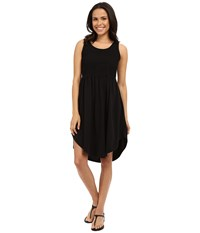 Mod O Doc Supreme Jersey Eyelet Panel Tank Dress Black Women's Dress