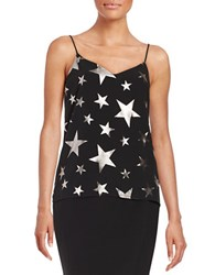 Design Lab Lord And Taylor Shimmering Star Tank Black