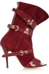 Vivienne Westwood Suede And Patent Leather Boots