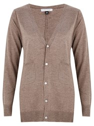 Nougat London High Pocket Detail Cardigan Brown